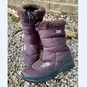The North Face Womens Goose Puffer Brown Boots 9